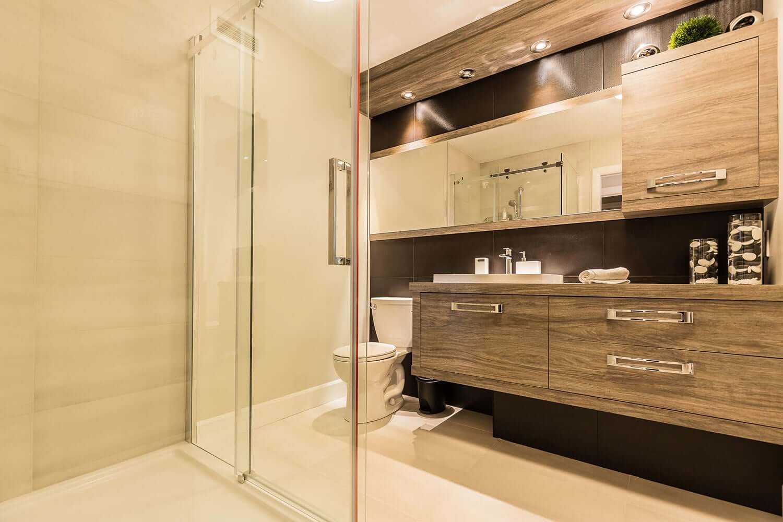 Salle de bain legardeur comptoir en stratifier for Cuisine salle bain