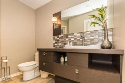 Salle de bain à Repentigny • Comptoir en stratifier