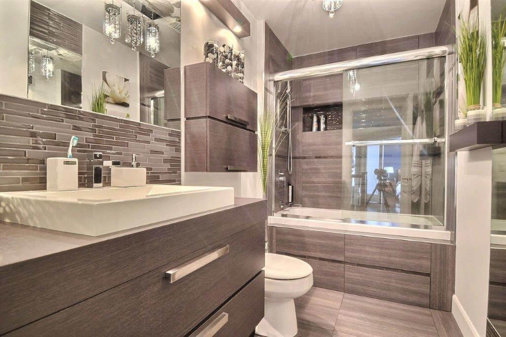 Salle de bain repentigny comptoir en stratifier for Comptoir de salle de bain