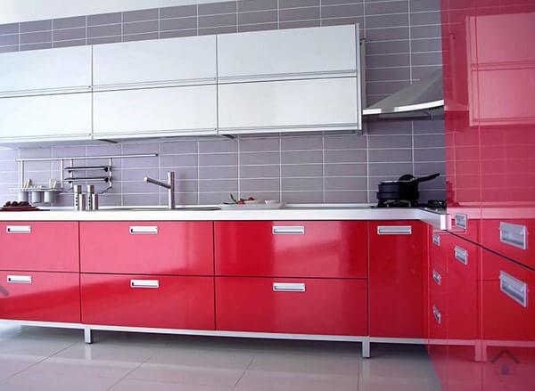 Armoires de cuisine en acrylique